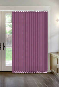 Thermal Aubergine Vertical Thermal Blind