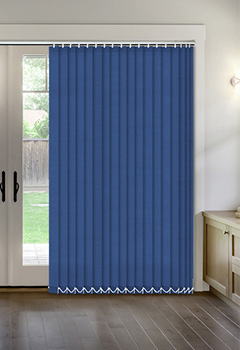 Thermal Dark Blue Vertical Thermal Blind