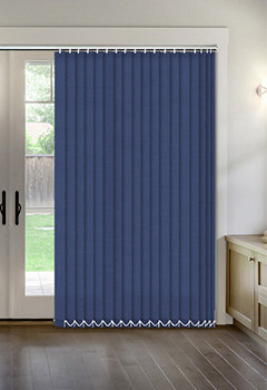 Thermal Navy Vertical Thermal Blind
