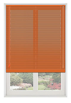 Atomic Bright Orange Venetian Blind