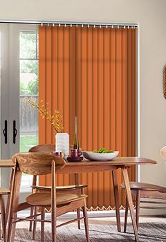 Orange Vertical Blinds Buy 89mm Or 127mm Louvre Blinds4uk