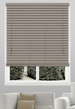 Dusty Acacia Wooden blinds