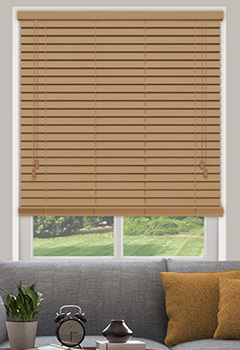 Golden Honey Wooden Blind