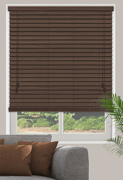 Inferno Walnut Wooden Blind