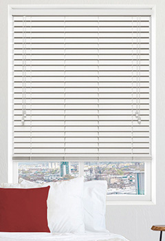 Polar White Wooden Blind