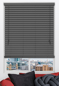 Urban Greyish Wooden Blind