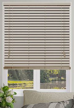 Abalone Cream Wooden Blind
