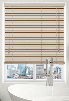 Faux Creme Wooden Blind