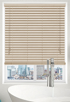 Faux Creme Grain Wooden Blind