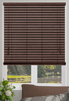 Hickory Faux Wooden blinds