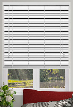 Honest White Wooden Blind