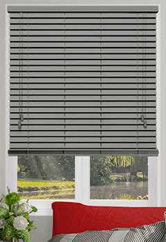 Seattle Grey Wooden Blind