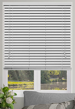 Smooth Frost White Wooden Blind