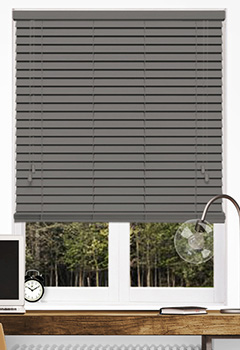 Timeless Dark Grey Wooden Blind