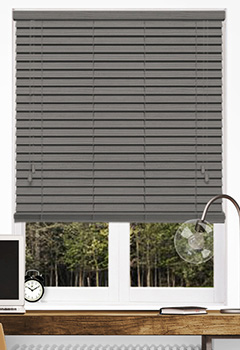 Timeless Embossed Dark Grey Wooden Blind