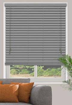 Carbon Grey Wooden Blind