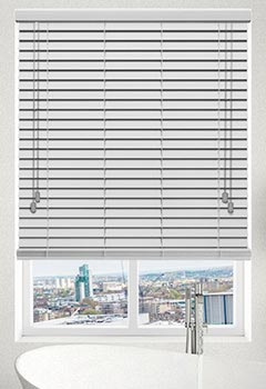 Smooth White Faux Wooden Blind