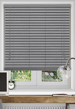 Native Soft Grey Wooden Blind