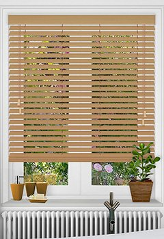 Oak Faux Wooden Blind