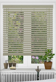 Slate Faux Wooden Blind