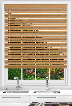 Native Oak Wooden Blind