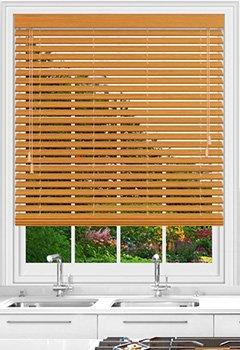Native Red Oak Wooden Blind