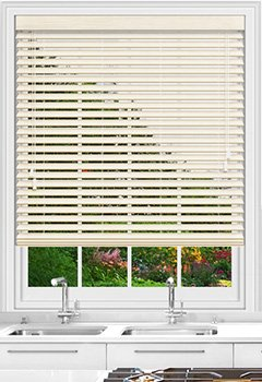 Native Soft White Wooden Blind