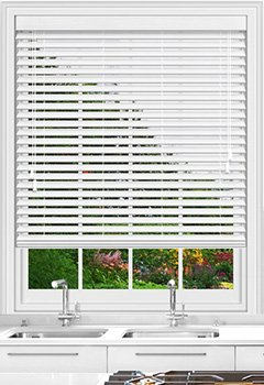 Native White Gloss Wooden Blind
