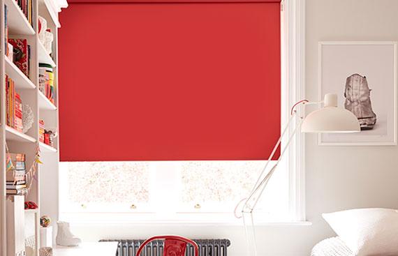 Buy Red Blackout Roller Blinds