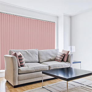 Stylish Rosy Pink Vertical Blind