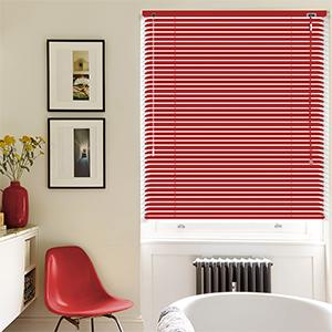Vibrant Red Venetian Blind